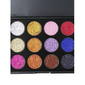 12 Colors Glitter Powder High Pigmented Natural Eyeshadow Palette -