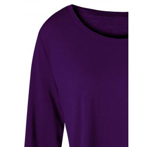 Plus Size Asymmetric Two Tone Color Top -