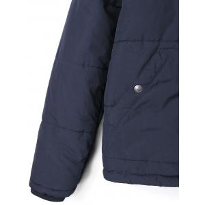 Hooded Drawstring Padded Coat -