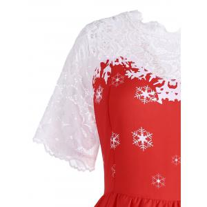 Plus Size Snowflake Santa Claus Christmas Dress -