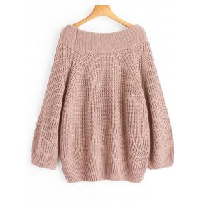 Off Shoulder Chunky Pullover Sweater -