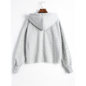 Tunic Faux Pearl Hoodie -