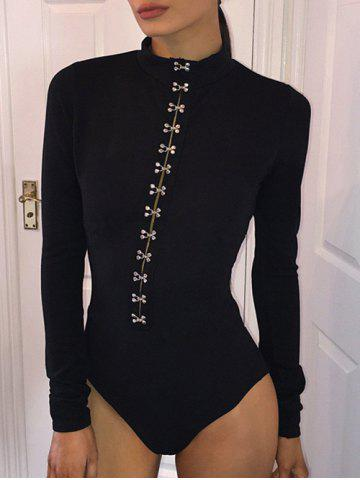 Cheap Long Sleeves High Neck Bodysuit