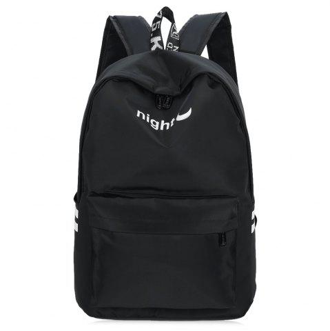 Trendy Color Block Letter Print Nylon Backpack