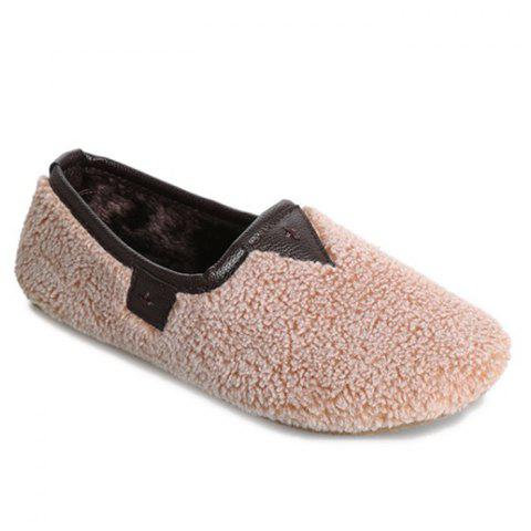 Outfits Slip On Round Toe Faux Fur Flat Shoes