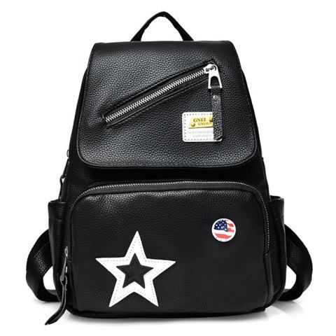 Latest Star Faux Leather Flag Backpack