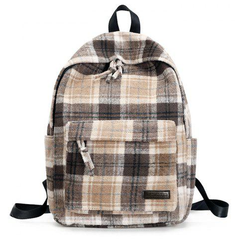 Cheap Plaid Backpack With Handle