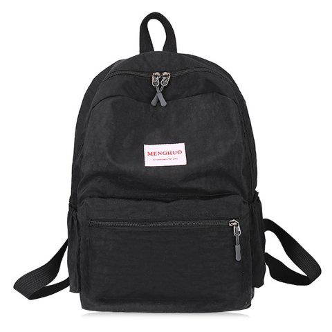 Latest Double Side Pockets Letter Print Backpack