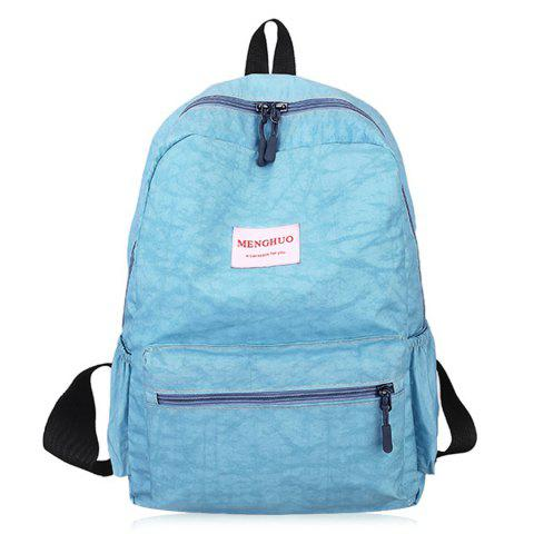 Outfit Double Side Pockets Letter Print Backpack