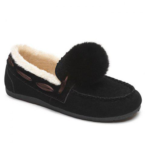Buy Whipstitch Pompom Loafer Shoes