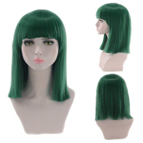 Latest Medium Neat Bang Blunt Straight Synthetic Cosplay Wig