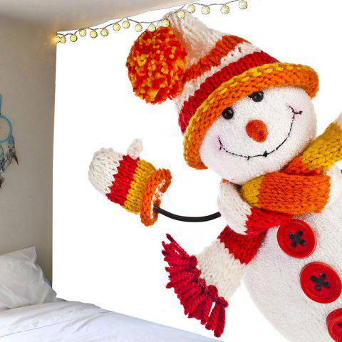 Best Wall Art Winter Christmas Snowman Pattern Tapestry