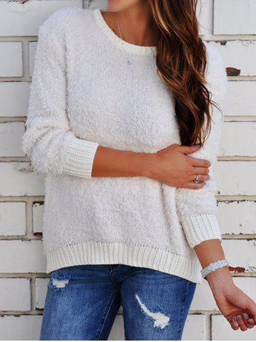 Trendy Long Sleeve Round Neck Boyfriend Sweater