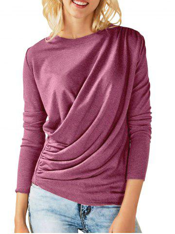 Outfit Draped Ruched Long Sleeves Tee