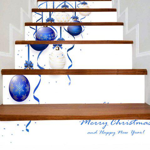 Best Christmas Hanging Balls Print Decorative Stair Stickers