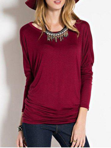 Fancy Dolman Sleeve Tunic T-shirt