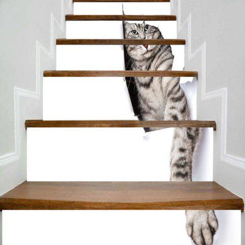 Store Cute Kitten Print Decorative 3D Stair Stickers