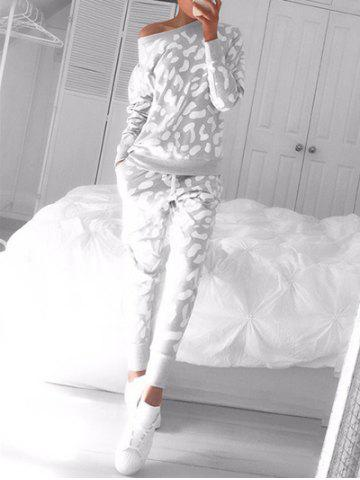 Outfit Long Sleeve Printed Sweat Suit