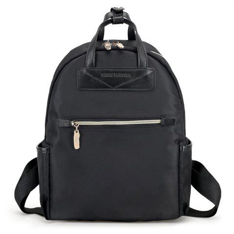 Trendy Nylon Double Handles Color Block Backpack
