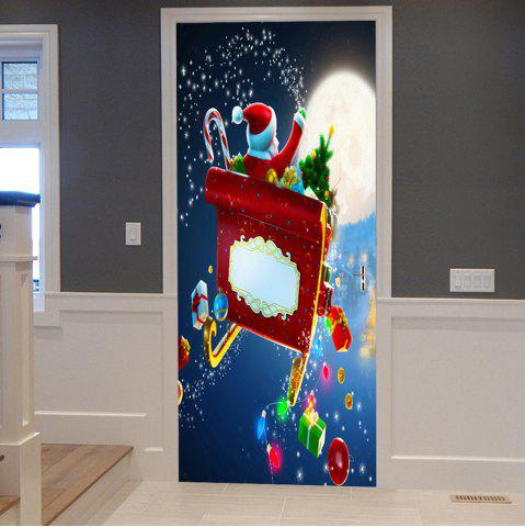 Best Christmas Santa with Gifts Pattern Door Cover Stickers
