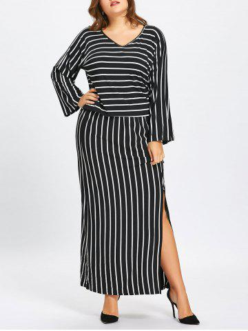 Fancy Stripe Top and Pencil Skirt Twinset