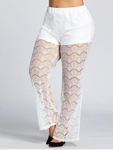 Outfits High Waist Plus Size Sheer Lace Pants