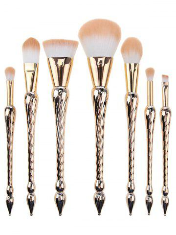 Trendy Pointed Scepters Handle Makeup Brush Set 7Pcs