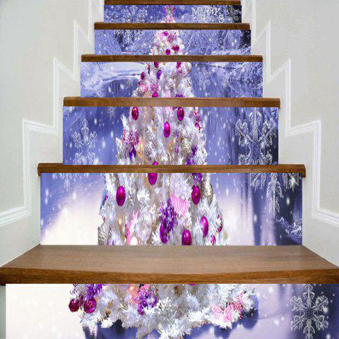 Outfits Christmas Tree Snowscape Printed Stair Stickers