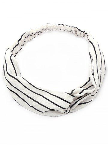Fashion Vintage Two Tone Striped Elastic Hair Band