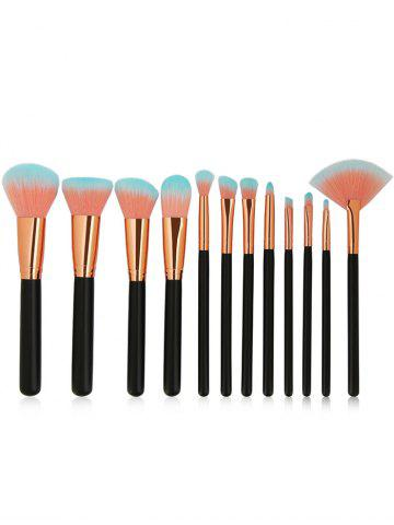 12 Pcs Deux Tons Poils Maquillage Brosses Set