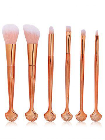6 Pcs Seashell Makeup Brush Set