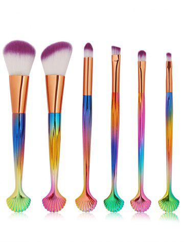 Unique 6 Pcs Shell Makeup Brush Set