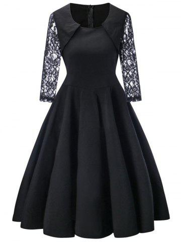 Shop Lace Sleeve Vintage A Line Dress