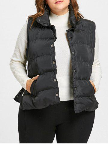 Affordable Button Up Plus Size Padded Waistcoat