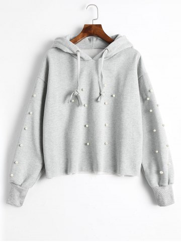 Discount Tunic Faux Pearl Hoodie