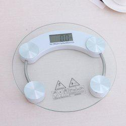 Transparent Glass Digital Body Weight Scale -