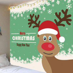 Snowflakes Christmas Elk Pattern Wall Decorative Tapestry -