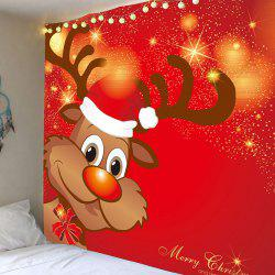 Home Decor Christmas Elk Pattern Decorative Tapestry -