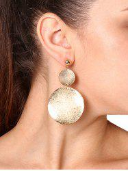 Asymmetric Round Disc Earring - Golden