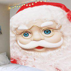 Santa Claus With Glasses Patterned Decorative Tapestry -