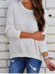 Long Sleeve Round Neck Boyfriend Sweater -