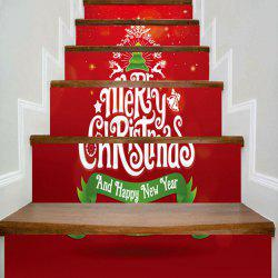 Merry Christmas Tree Pattern Decorative Stair Stickers -