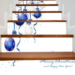Christmas Hanging Balls Print Decorative Stair Stickers -