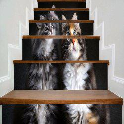 Two Lovely Kittens Printed Decorative Stair Stickers -