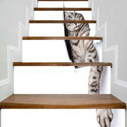 Cute Kitten Print Decorative 3D Stair Stickers -