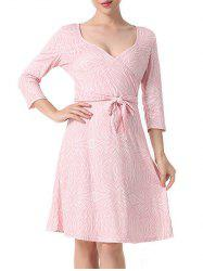 Surplice Printed A Line Dress -