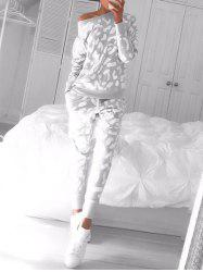 Long Sleeve Printed Sweat Suit -