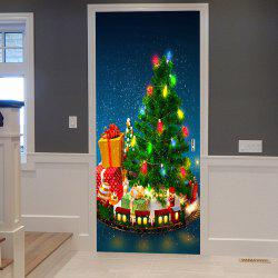 Christmas Tree with Gifts Pattern Door Cover Stickers -