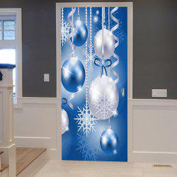 Christmas Baubles Snowflakes Pattern Door Cover Stickers
