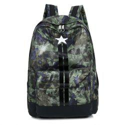 Striped Print Stars Backpack -